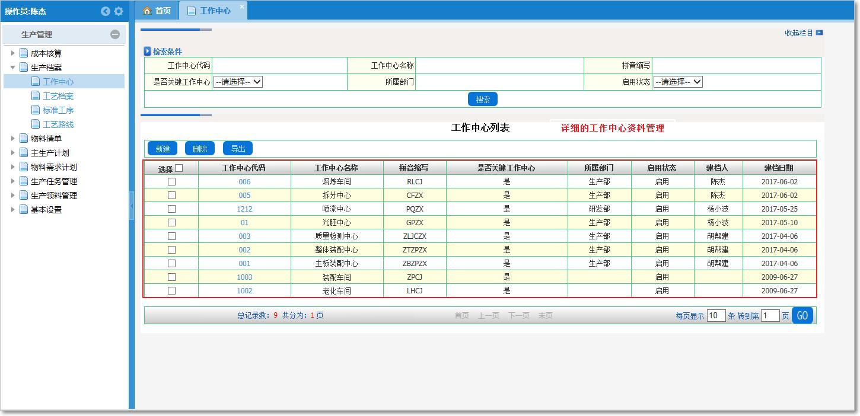 生产档案的维护与管理